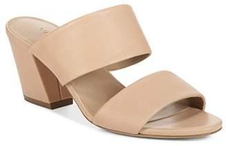 Vince Women's Benetta Leather Block Heel Slide Sandals