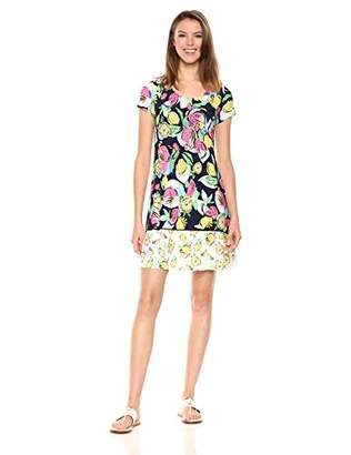MSK Women's Short Sleeves t-Shirt Dress,M