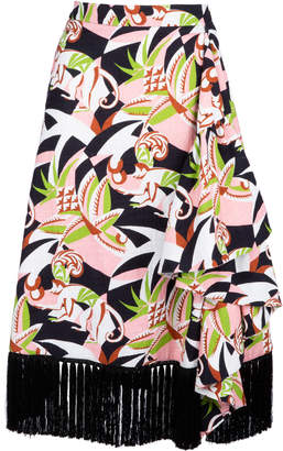 La DoubleJ Jungle fringe cotton blend skirt Size: XS