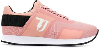 Trussardi Jeans panelled low sneakers