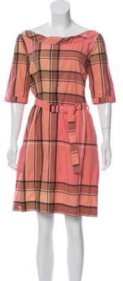 Burberry Exploded Check Knee-Length Dress multicolor Exploded Check Knee-Length Dress
