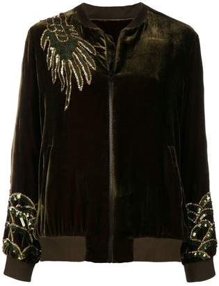 P.A.R.O.S.H. dragon embellished bomber jacket