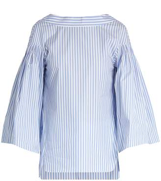 DAY Birger et Mikkelsen TEIJA V-back striped cotton top