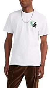 Central High Men's Panda-&-Logo Cotton T-Shirt - White