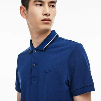Lacoste Men's Regular Fit Piped Neck Flamme Pique Polo