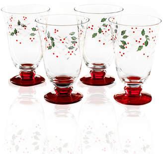 Pfaltzgraff Set of 4 Winterberry Water Goblets