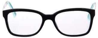 Burberry Check-Embellished Square Eyeglasses