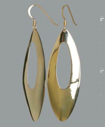 Argento Vivo gold marquise hoop earrings