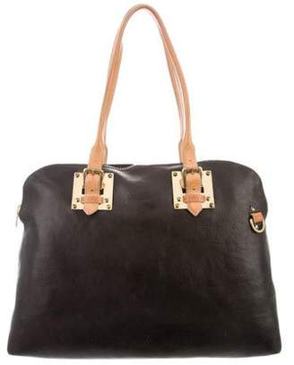 Sophie Hulme Bicolor Leather Satchel