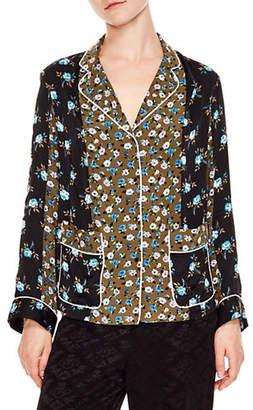Sandro Notting Hill Noisette Floral Shirt