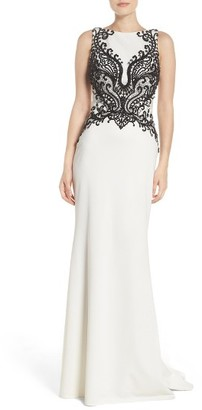 Women's La Femme Embellished Column Gown $538 thestylecure.com