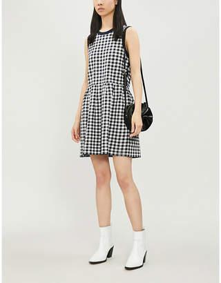 Claudie Pierlot Mirabel checked flared cotton-blend dress