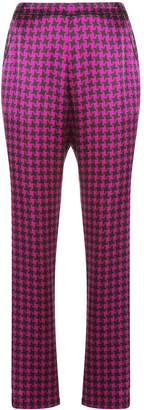 Fleur Du Mal houndstooth tailored trousers