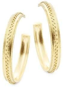 Amrapali Pallavi 18K Yellow Gold Hoop Earrings
