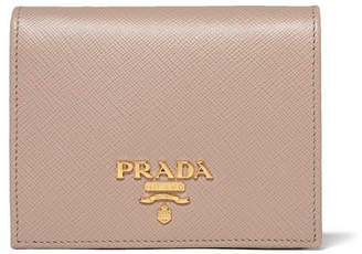 Prada Textured-leather Wallet - Beige