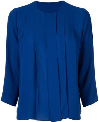 KNOTT pleated front blouse