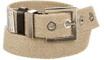Dolce & Gabbana Dolce & Gabbana Canvas Logo-Adorned Belt