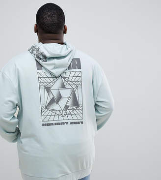 Puma PLUS Hoodie With Back Print In Green Exclusive To ASOS