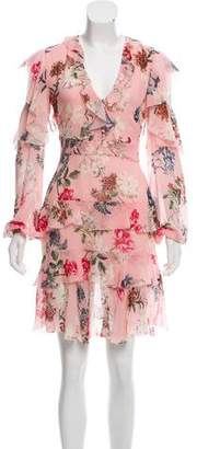 Nicholas Long Sleeve Silk Floral dress