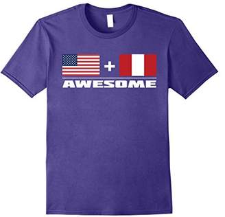 American + Peruvian = Awesome Flag T-Shirt