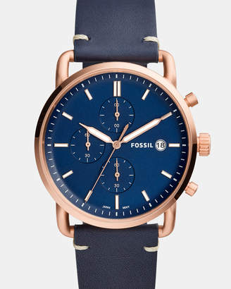 Fossil The Commuter Blue Analogue Watch