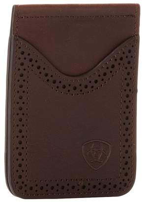 Ariat Shield Perforated Edge Money Clip Wallet Handbags