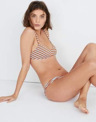 Madewell Solid & Striped Rachel Bikini Top