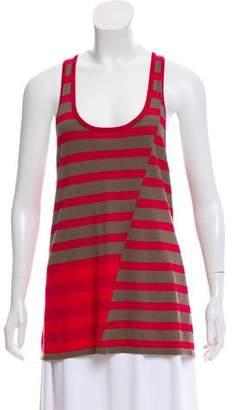Thakoon Silk Stripe Sleeveless Top
