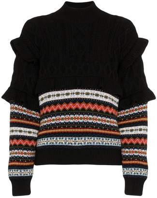 Philosophy di Lorenzo Serafini long sleeve cable knit sweater