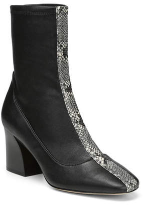 Donald J Pliner Gian Stretch-Leather Booties