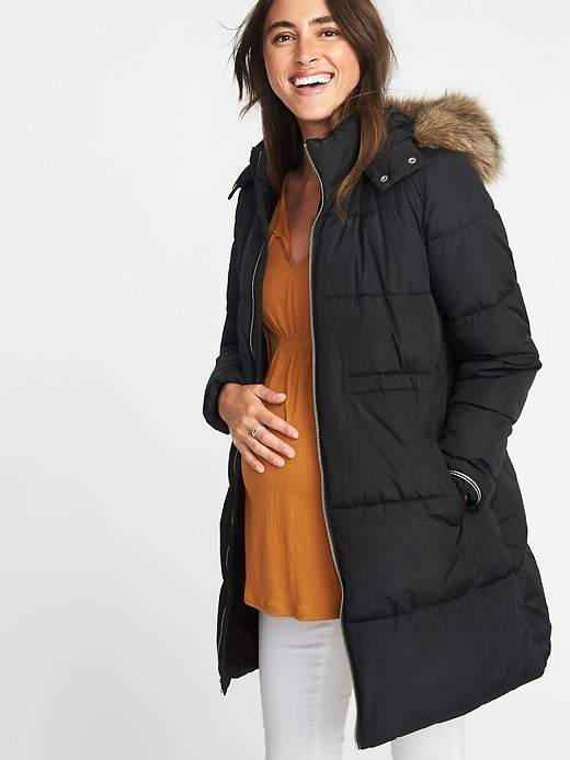 Maternity Long-Line Hooded Frost-Free Jacket