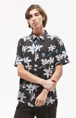 Insight Venus Fly Trap Short Sleeve Button Up Shirt