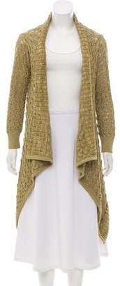 Oscar de la Renta Silk Crochet Cardigan