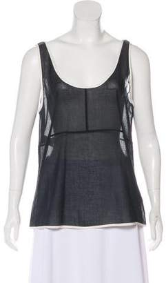 Narciso Rodriguez Scoop Neck Sleeveless Top