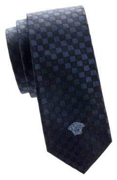 Versace Checked Silk Tie