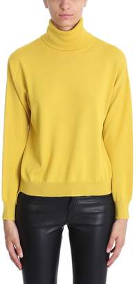 Mauro Grifoni Turtle Neck Mustard Wool Sweater