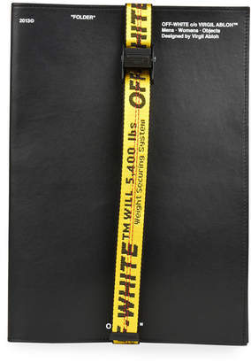 Off-White Off White Men's Leather Industrial-Strap Document Holder