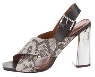 Rebecca Minkoff Python High-Heel Sandals