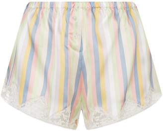 Sorbet Morgan Lane Josephine Stripe Silk Shorts