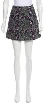 Manoush Embellished Wool Skirt