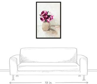 House of Hampton 'Little Flowers in Vase' Acrylic Painting Print on Canvas