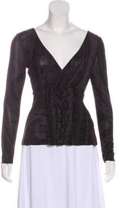 Etro Patterned Long Sleeve Top