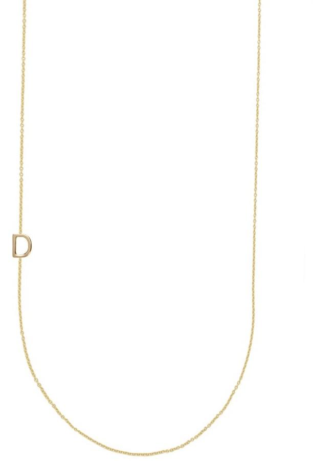 BaubleBar Asymmetrical Mini Letter Necklace