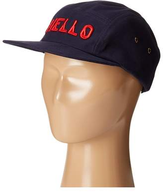 San Diego Hat Company Kids Cotton Twill 5 Panel Hat with Embroidered Front Hello and Goodbye On The Back Caps