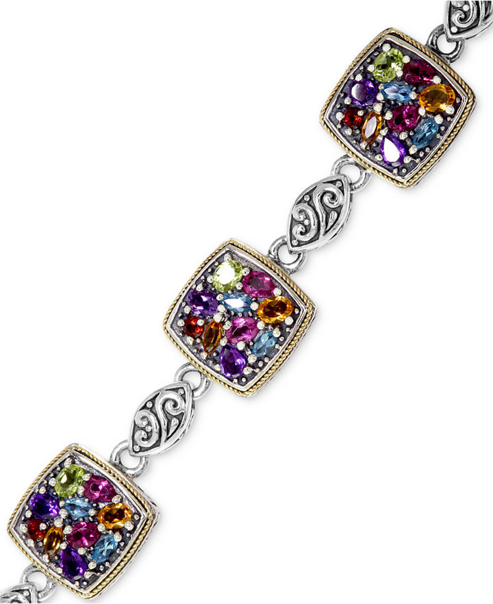 Balissima by EFFY Multistone Bracelet (7-1/4 ct. t.w.) in 18k Gold and Sterling Silver
