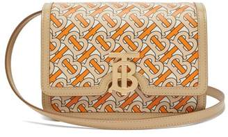 Burberry Tb Print Leather Cross Body Bag - Womens - Orange Multi