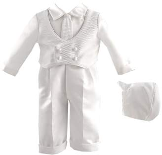 Ralph Lauren Madison baby boy Christening Baptism Infant Knit Vest With Satin Pant