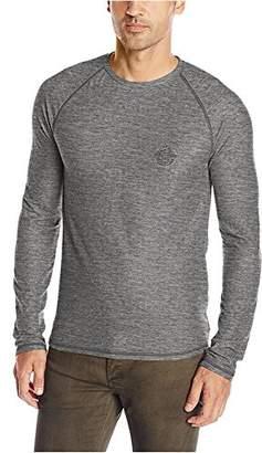 Buffalo David Bitton Men's Kasoft Long Sleeve Crewneck Waffle Knit Shirt