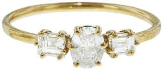 Melissa Joy Manning Oval And Emerald Diamond Princess Ring