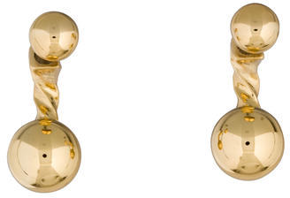 Giles & Brother Twist & Ball Earrings $50 thestylecure.com